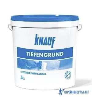 Грунтовка Кнауф Тифенгрунд (Knauf Tiefengrund) (5 кг)