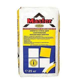 Клей для плитки Master Standart (Мастер Стандарт) (25 кг)