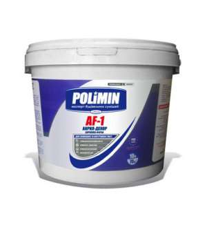 Краска Фасадная Акриловая Полимин АФ-1 (10л) (Polimin)
