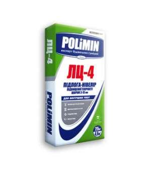 Самовыравнивающаяся смесь Полимин ЛЦ-4 (25 кг) 3-15 мм (Polimin)