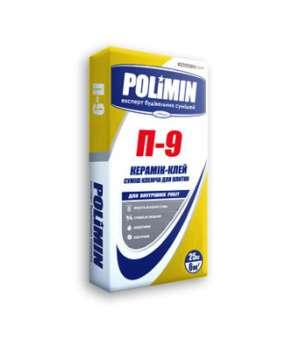 Клей для плитки Полимин П-9 (25 кг) (Polimin)