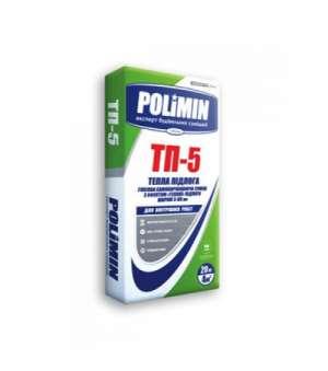 Самовыравнивающаяся гипсовая смесь Полимин ТП-5 (20кг) 3-80мм (Polimin TP-5)