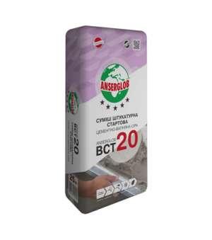 Штукатурка Стартовая Ансерглоб БСТ-20 (Anserglob BCT-20)(25кг)