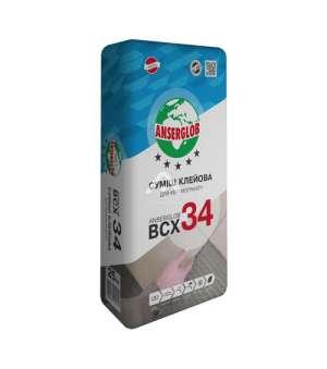 Клей для Керамогранита Ансерглоб ВСХ-34 (Anserglob) (25кг.)