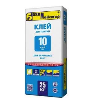 Клей для плитки Будмайстер-10 (клей сила) (25кг)