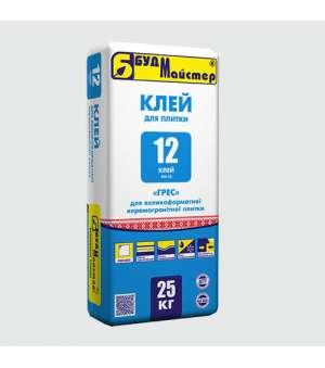 Клей для керамогранита БудМайстер Клей -12 (25кг)