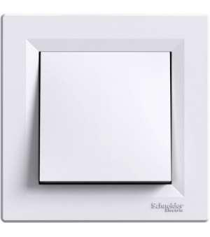 Выключатель Одноклавишный Asfora (белый)